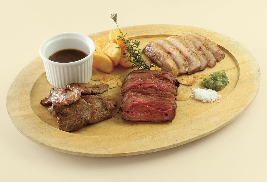 3種の極上ステーキ