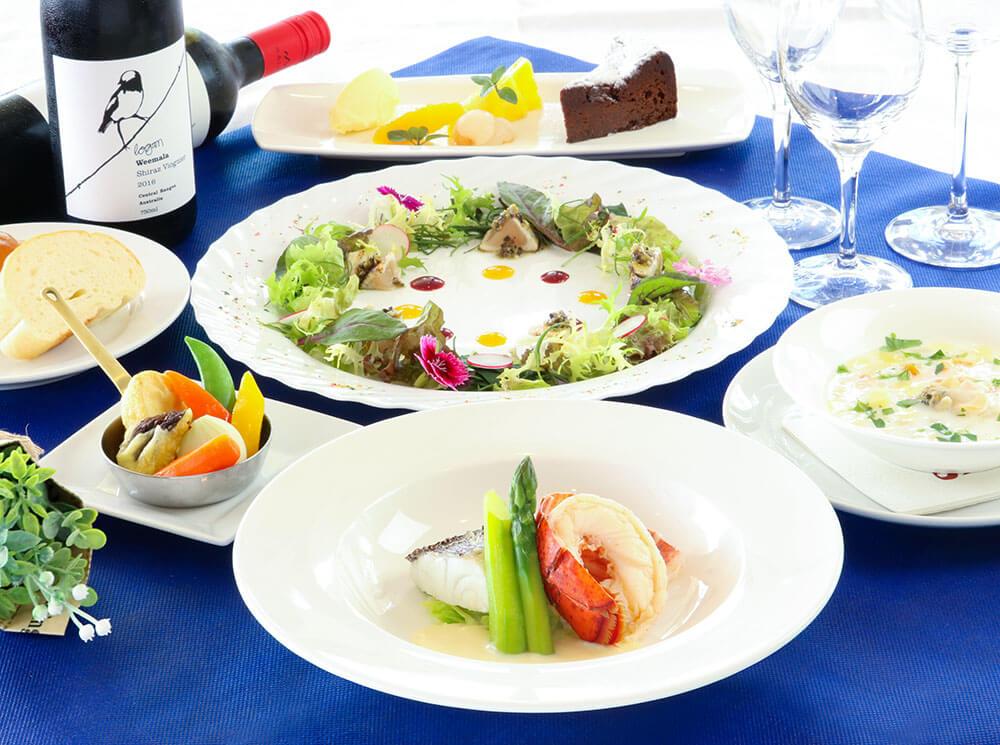 レストラン ケニーズ プラザハウス店 春のコース 白